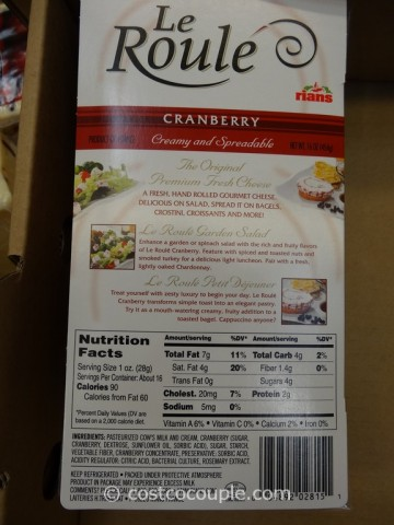 Le Roule Cranberry Log Costco 4