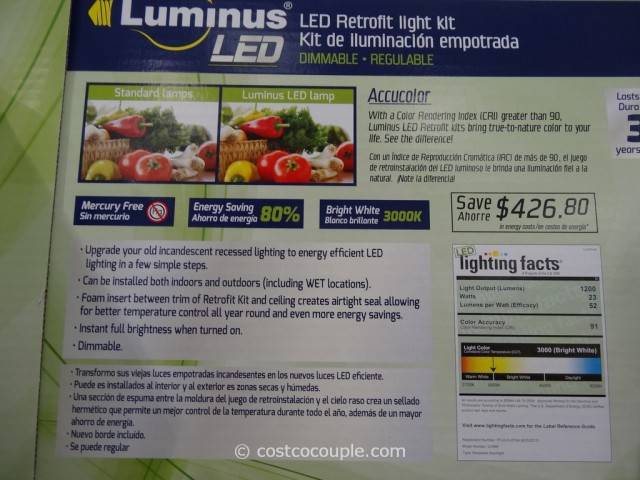 the luminus 23w dimmable led retrofit kit is priced at. Black Bedroom Furniture Sets. Home Design Ideas