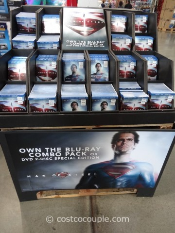 Man of Steel BluRay DVD Costco 1
