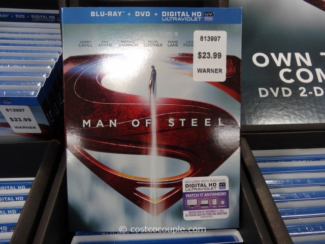 Man of Steel BluRay DVD Costco 2