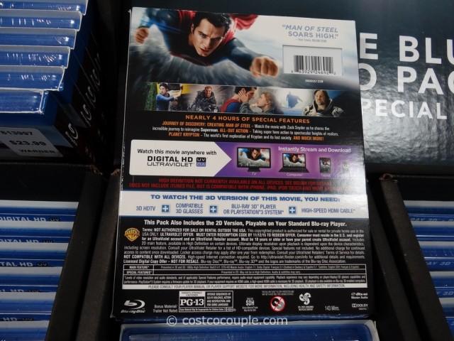Man of Steel BluRay DVD Costco 5