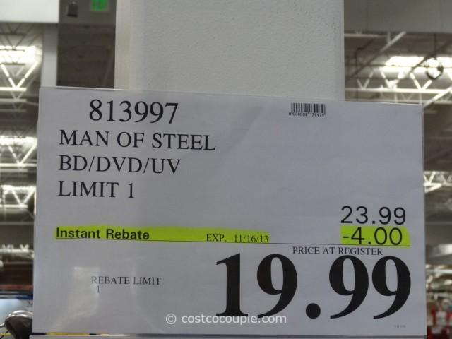 Man of Steel BluRay DVD Costco 6