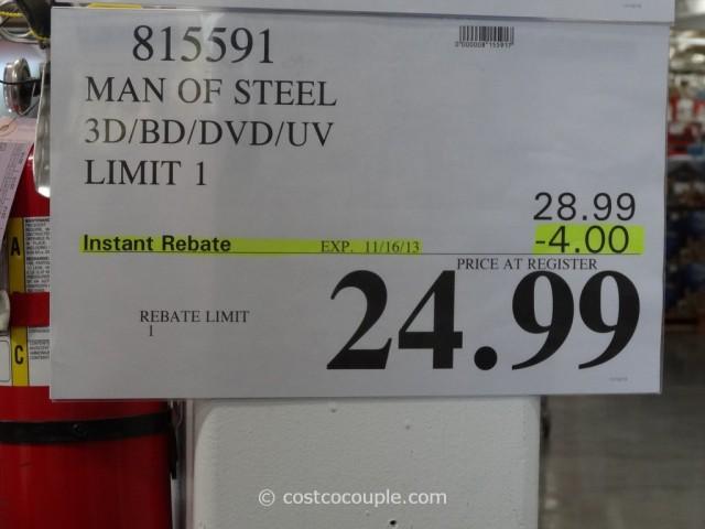 Man of Steel BluRay DVD Costco 7
