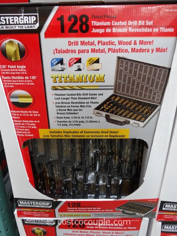 Mastergrip 128-Piece Drill Bit Set Costco 1