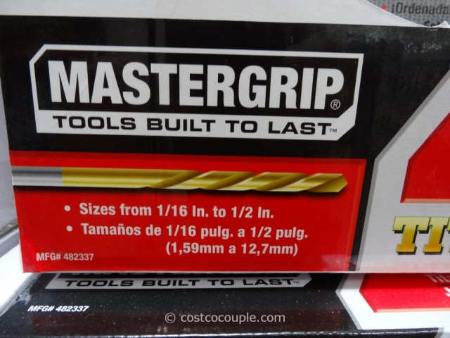 Mastergrip 128-Piece Drill Bit Set Costco 5