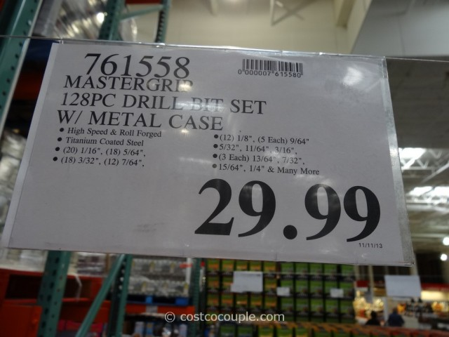 Mastergrip 128-Piece Drill Bit Set Costco 6