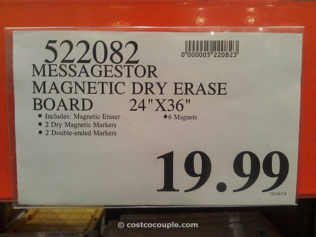 MessageStor Dry Erase Board Costco 1