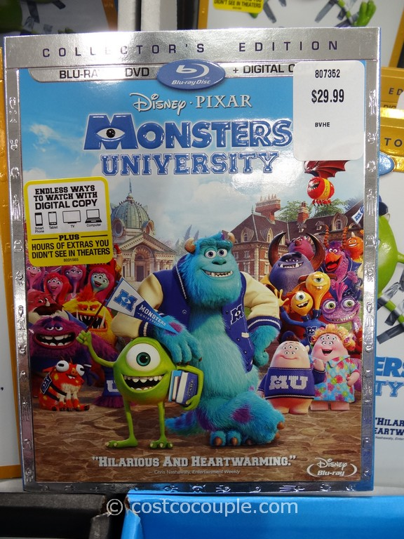 Monsters University Blu-Ray DVD DC Costco 1