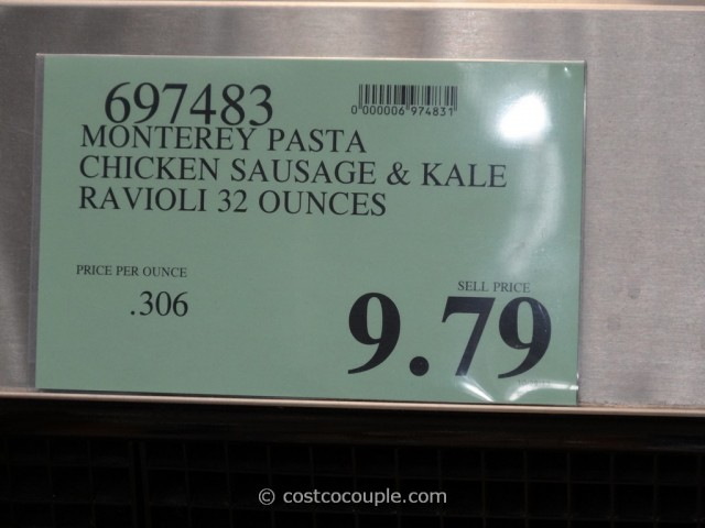 Monterey Pasta Chicken Sausage and Kale Ravioli Costco 1