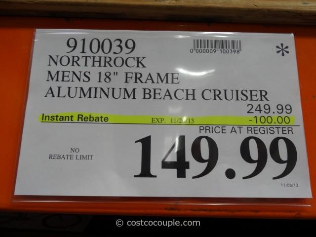 Northrock Mens 18-Inch Beach Cruiser Costco 1