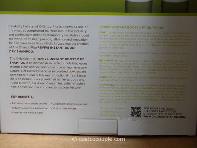 Orlando Pita Revive Instant Boost Dry Shampoo Costco 4