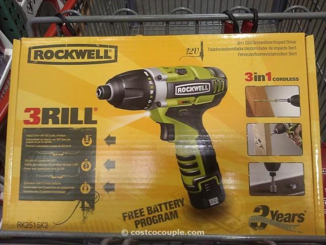 Rockwell 3Rill 3 in 1 Driver Costco 1