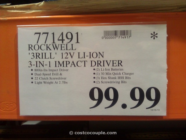 Rockwell 3Rill 3 in 1 Driver Costco 5