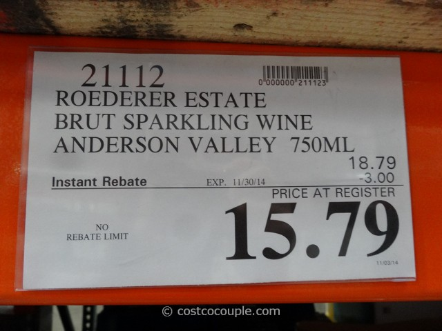 Roederer Estate Brut Sparkling Wine Costco