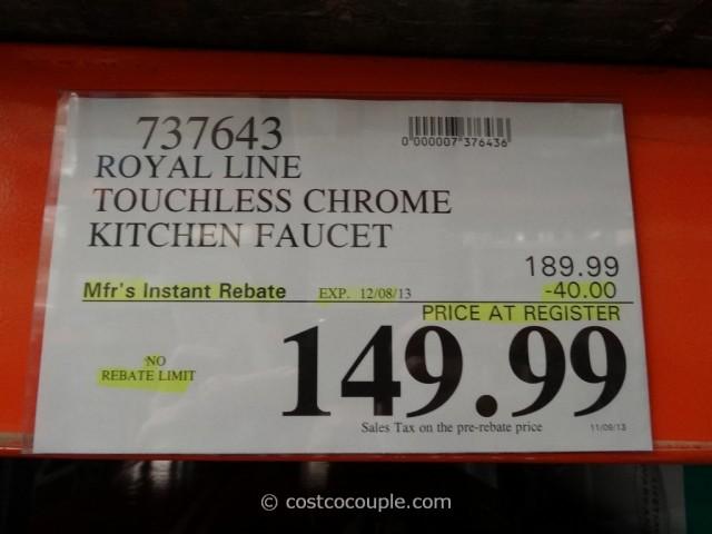 Royal Line Touchless Chrome Kitchen Faucet Costco 1