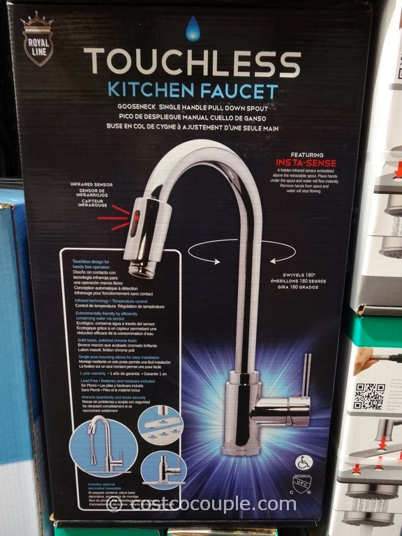Royal Line Touchless Chrome Kitchen Faucet - Touch activated kitchen faucet