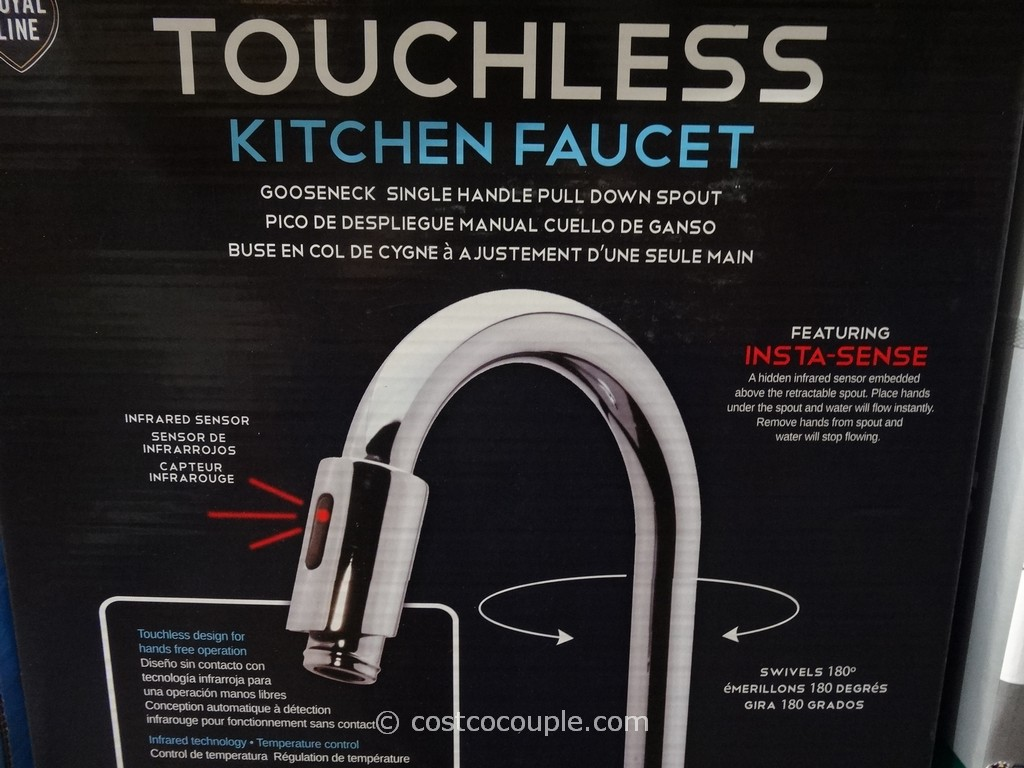 royal line touchless chrome kitchen faucet costco kitchen faucet Royal Line Touchless Chrome Kitchen Faucet Costco 4
