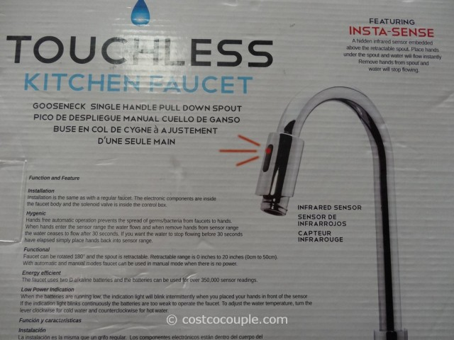 Royal Line Touchless Chrome Kitchen Faucet Costco 5