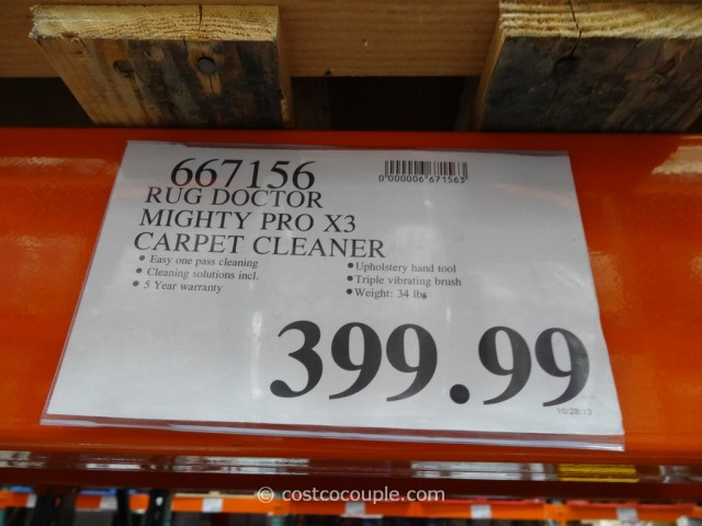 Rug Doctor Mighty Pro X3 Carpet Cleaner Costco 1