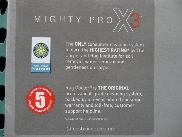 Rug Doctor Mighty Pro X3 Carpet Cleaner Costco 5