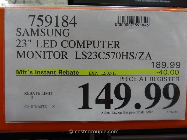 Samsung 23-Inch LED Monitor LS23C570HSZA Costco 3