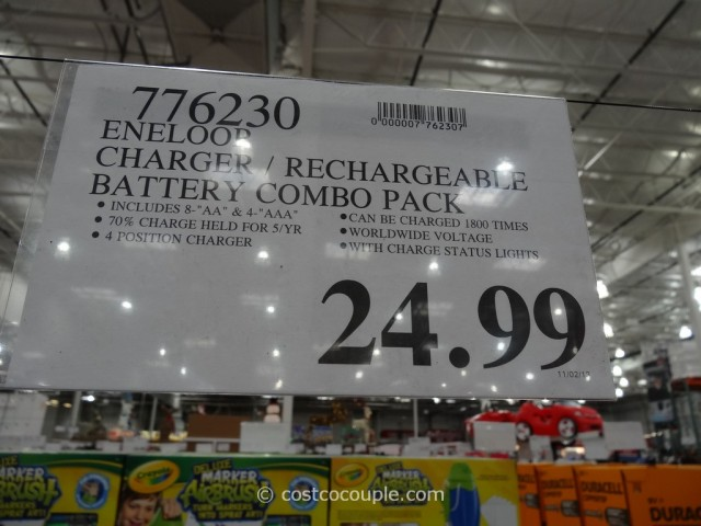 Sanyo Eneloop Rechargeable Battery Combo Pack Costco 1