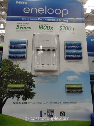 Sanyo Eneloop Rechargeable Battery Combo Pack Costco 2