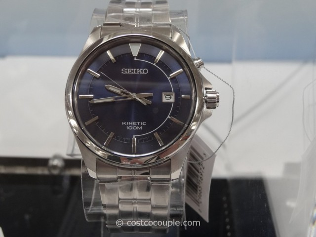 Seiko Kinetic Blue Dial Watch Costco 1
