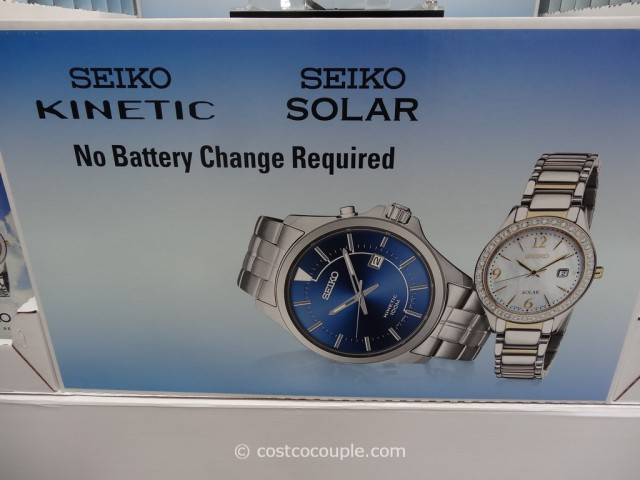 Seiko Kinetic Blue Dial Watch Costco 4