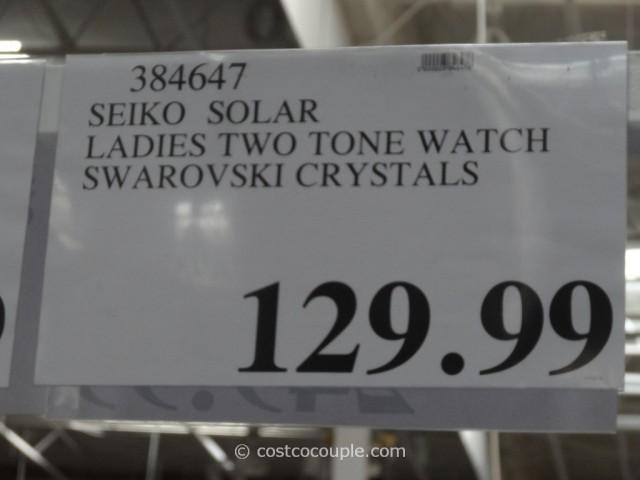 Seiko Solar Ladies' Swarovski Crystals Watch Costco 1