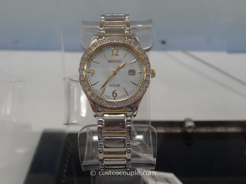 Seiko Solar Ladies Swarovski Crystals Watch