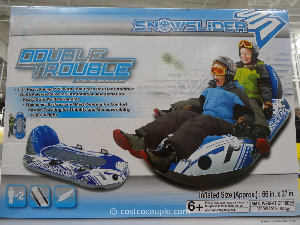 Snowslider Double Trouble Toboggan Costco 1