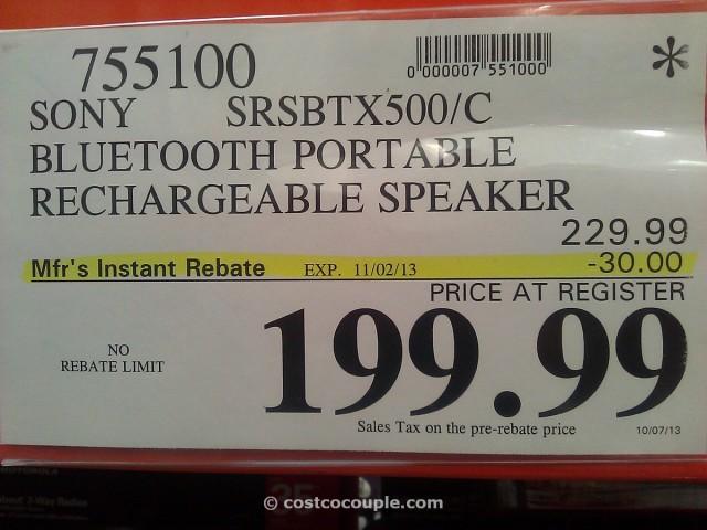 Sony Bluetooth Speaker Costco 1