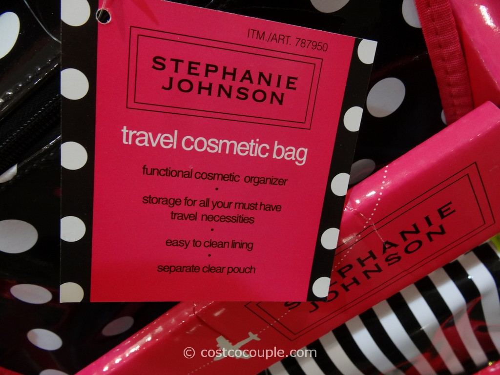 Stephanie Johnson Travel Cosmetic Bag Costco 3