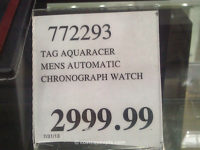 TAG Aquaracer Chronograph Black Costco 1