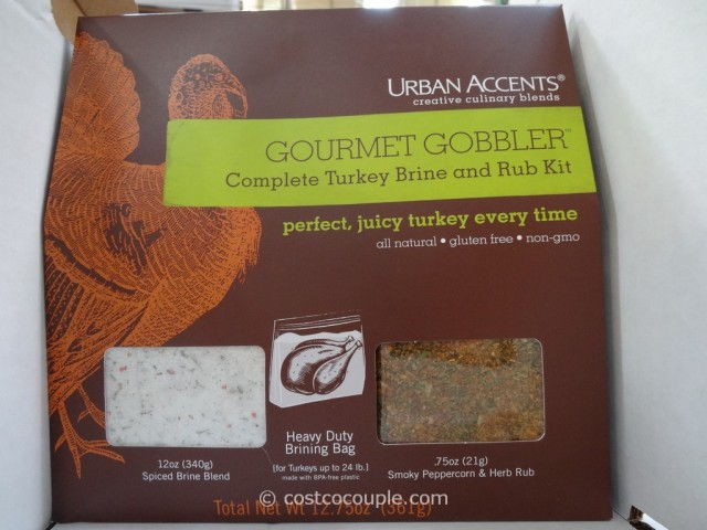 Urban Accents Gourmet Gobbler Turkey Brining Kit Costco 1