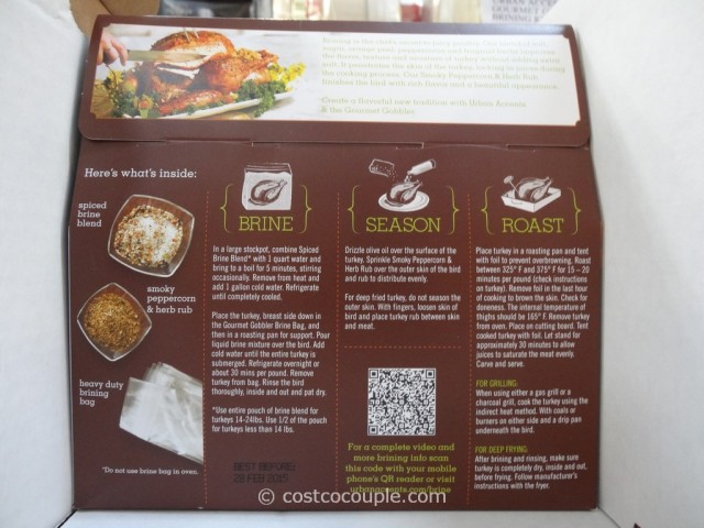 Urban Accents Gourmet Gobbler Turkey Brining Kit Costco 2