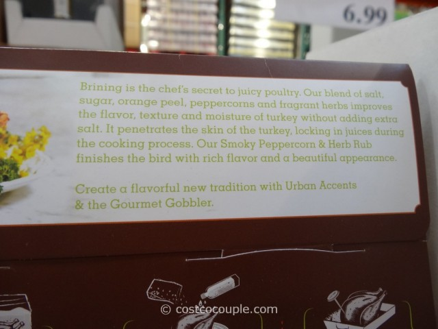 Urban Accents Gourmet Gobbler Turkey Brining Kit Costco 3