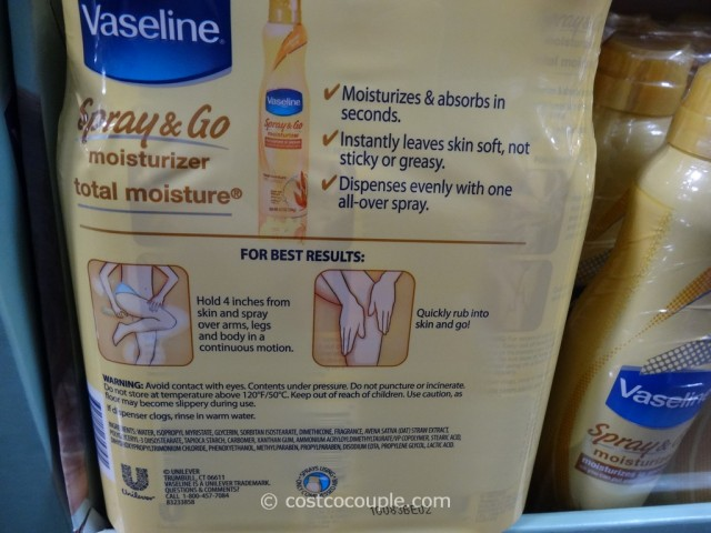 Vaseline Spray and Go Moisturizer Costco 4