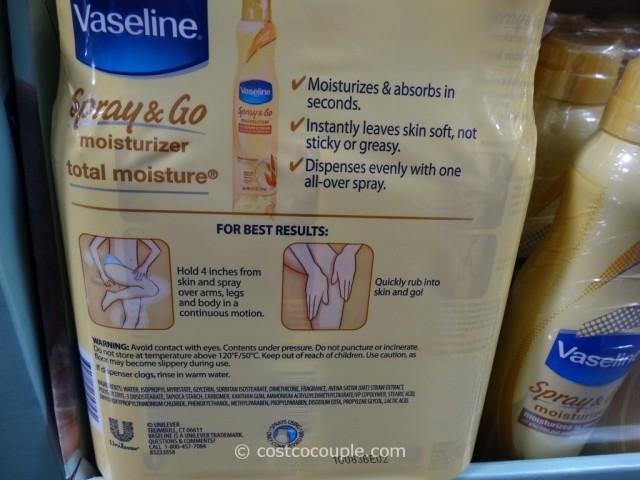 Vaseline Spray and Go Moisturizer Costco 4