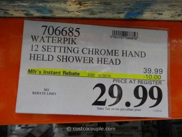 Waterpik Power Spray Chrome Hand Held Shower Head Costco