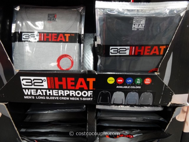 Weatherproof 32 Degrees Heat Mens Long Sleeve Crew Costco 1