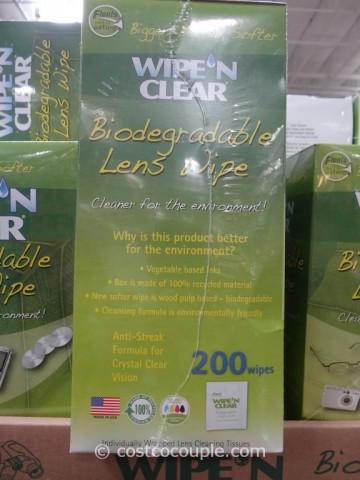 Wipe N Clear Biodegradable Lens Wipe Costco 2
