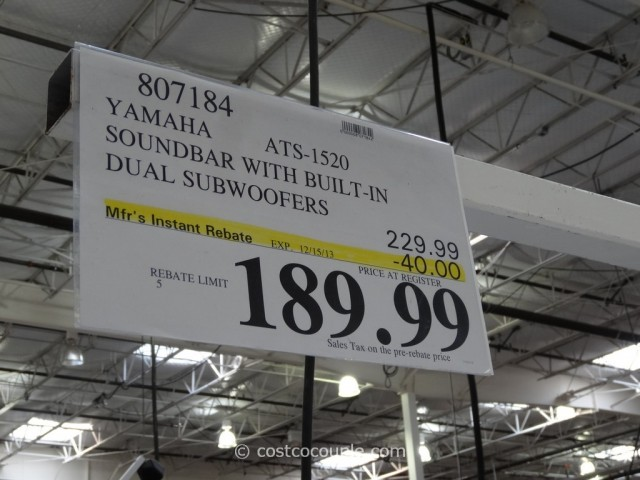 Yamaha Soundbar ATS-1530 Costco 1