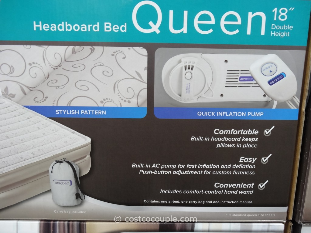 aerobed queen with headboard  show home design, Headboard designs