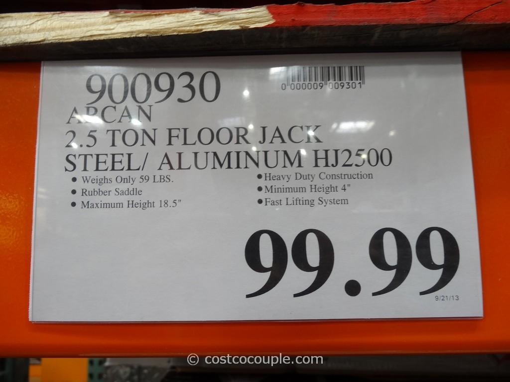 Arcan 2.5 Ton Steel Aluminum Hybrid Jack