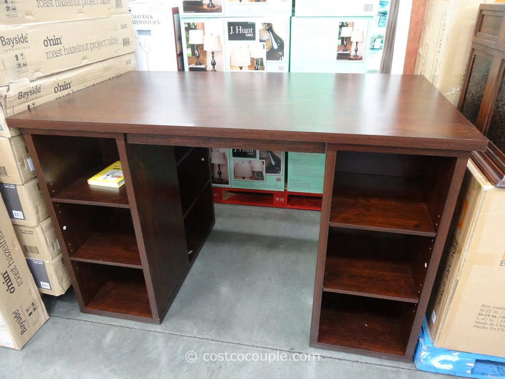 Bayside Furnishings Onin Roast Hazelnut Project Table Costco 1