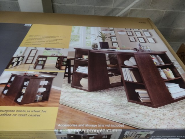 Bayside Furnishings Onin Roast Hazelnut Project Table Costco 4