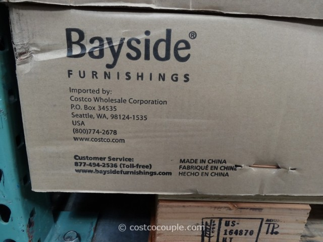 Bayside Furnishings Onin Roast Hazelnut Project Table Costco 6