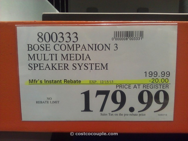 Bose Companion 3 Speaker System Costco 1